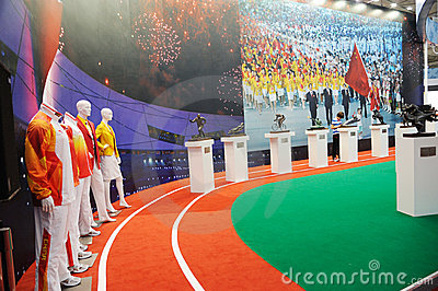 Chinese olympic committee stand Editorial Image