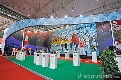 Chinese olympic committee stand Editorial Stock Photo