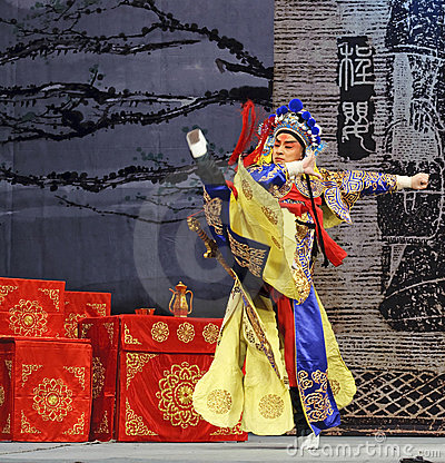 Chinese opera actor Editorial Photography