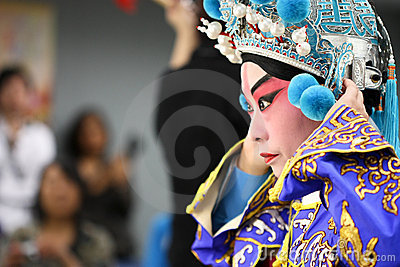 Chinese Opera Actor getting ready for a show Editorial Photo