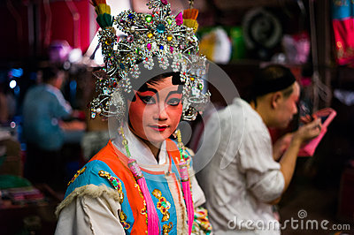 Chinese Opera Performer Editorial Photography