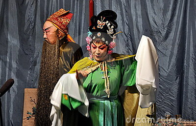 Chinese Opera Performers Editorial Photo
