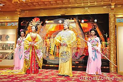 Chinese opera,waxwork Editorial Stock Image