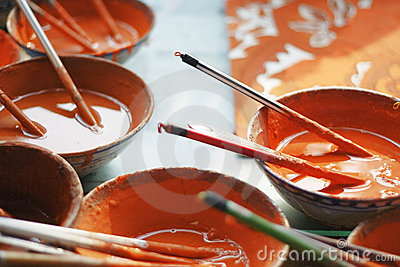 Chinese Orange Paint