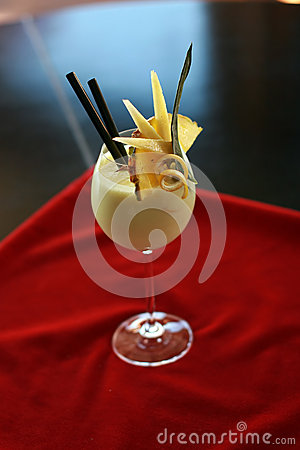 Chinese or oriental cream drink