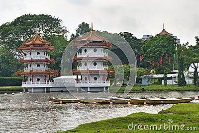 Chinese pagoda in Chinese Garden.
