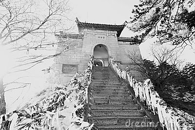 Chinese pagoda mount huashan