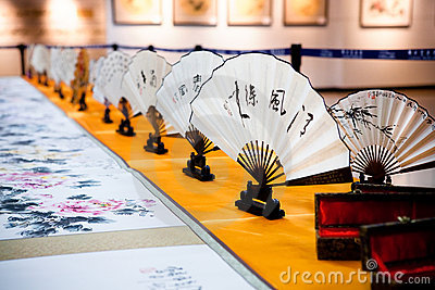 Chinese painting and calligraphy exhibition Editorial Image