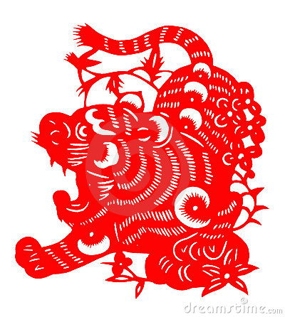 Chinese paper cut for tiger year of 2010