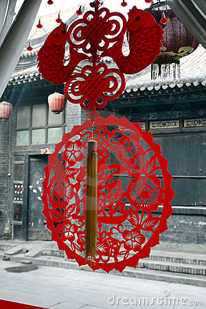 Chinese paper-cut on the window