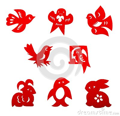 Chinese paper cutting set
