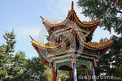 Chinese Pavilion In Garden