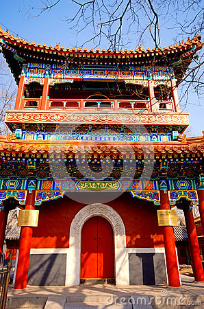 Chinese pavilion in Lama Temple(Beijing, China)