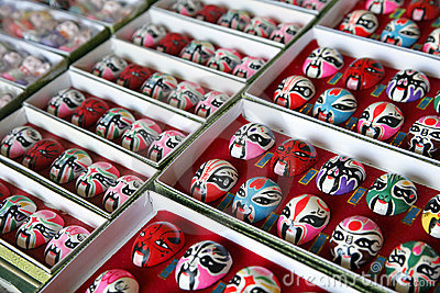Chinese Peking opera masks