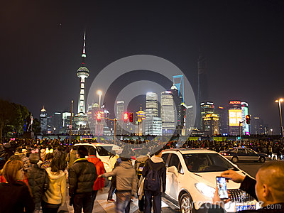 Chinese people celebrate new year Editorial Stock Image