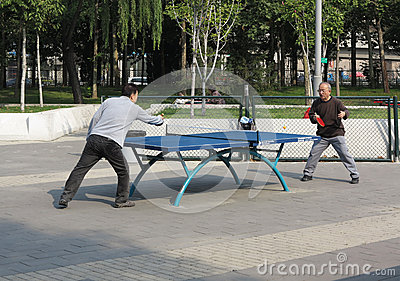 Chinese Play Table Tennis