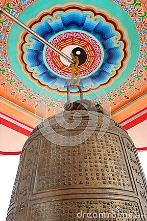 Chinese poem on vintage bell