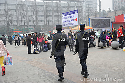 Chinese police Editorial Stock Photo