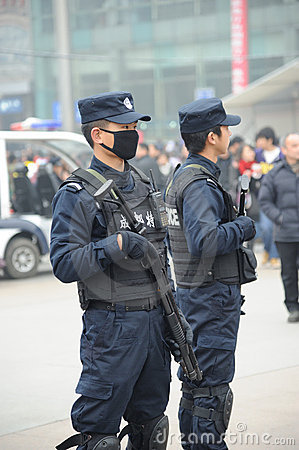 Chinese police Editorial Image