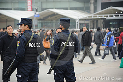Chinese police Editorial Stock Image