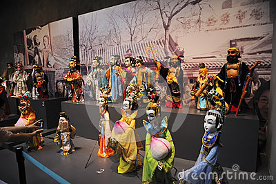 Chinese puppets on 21st UNIMA Editorial Photography