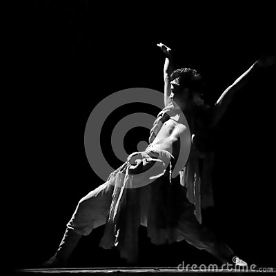 Chinese Qiang national dancer Editorial Image