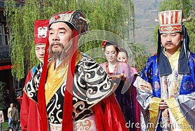 Chinese Qingming Festival public memorial ceremony Editorial Image