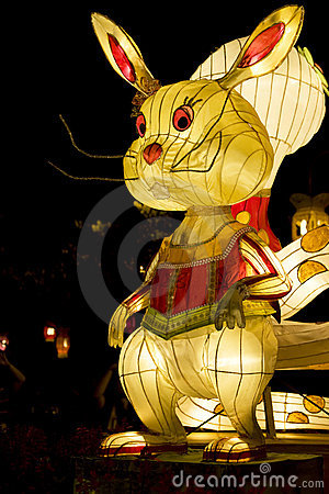 Chinese Rabbit Animal Zodiac Lantern