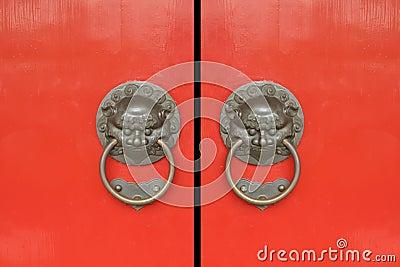 Chinese Red Gates Doors