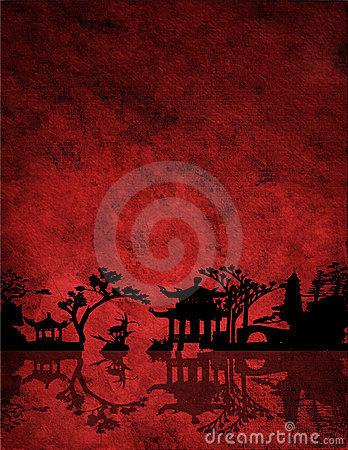 Free Chinese Red Landscape Royalty Free Stock Photos - 2962298