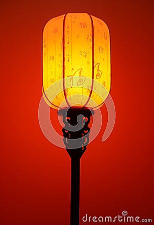 Free Chinese Red Lantern Lamp Floor Light Stock Image - 45992361