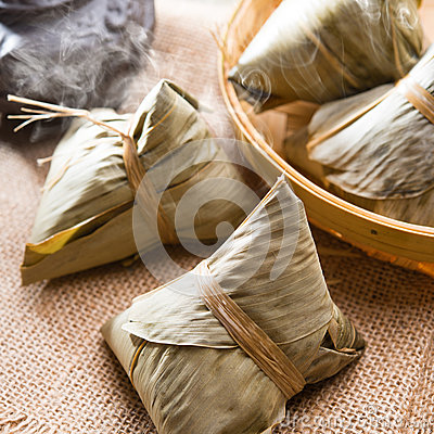 Free Chinese Rice Dumpling Royalty Free Stock Photography - 40655487