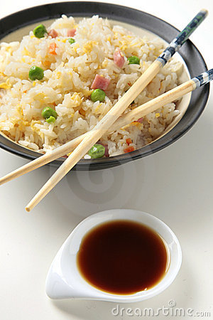 Chinese rice three delights