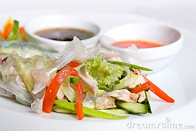 Chinese rolls with vegetables