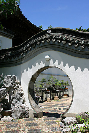 Chinese round door