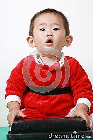 Chinese santa boy