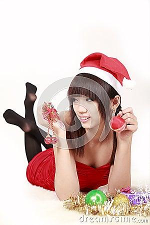 Chinese santa girl