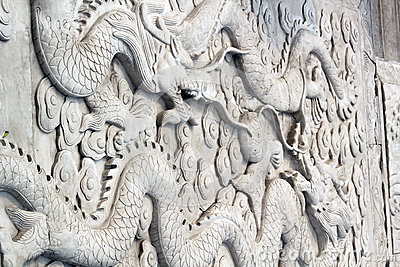 Chinese sculpture of Dragons