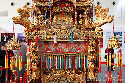 Chinese sedan chair Editorial Stock Image