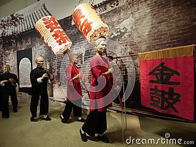 Chinese sedan chair team leaders Editorial Photo
