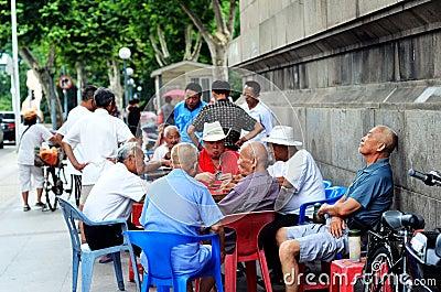 Chinese senior citizens Editorial Stock Image