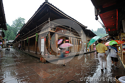 Chinese shangli old  town Editorial Stock Photo