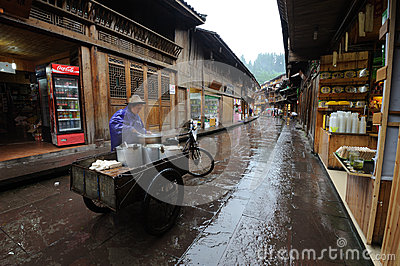 Chinese shangli old  town Editorial Photography