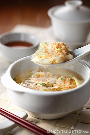 Free Chinese Shrimp Sup Dumpling Stock Photos - 19123193
