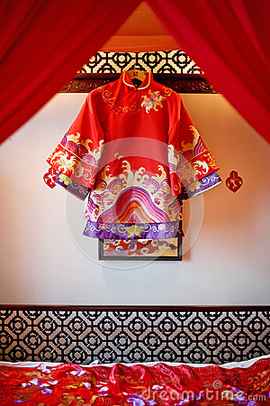 Chinese silk dress