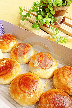 Chinese snack - bean paste pastry