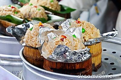 Chinese snacks bamboo rice
