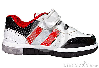 Chinese sneaker with red stripes