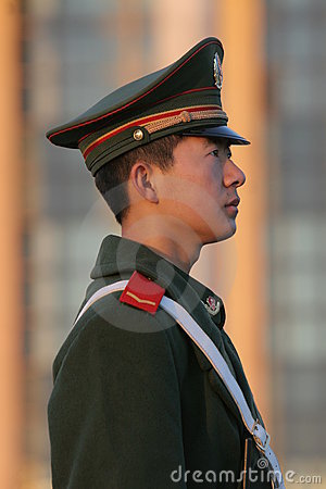Chinese solider Editorial Image