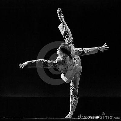 Chinese Solo dance  Editorial Stock Photo